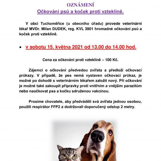 Očkování psů a koček